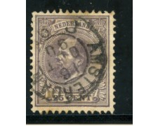 1872/88 - LOTTO/21260 - OLANDA - 25 CENT. VIOLETTO - USATO