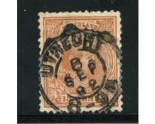 1891 - LOTTO/21265 - OLANDA - 15c. BRUNO GIALLO - USATO