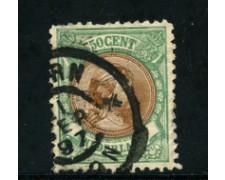 1891 - LOTTO/21267 - OLANDA - 50c. VERDE BRUNO - USATO