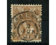 1898 - LOTTO/21269 - OLANDA - 15 cent. BRUNO - USATO
