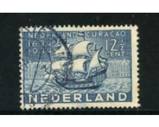 1934 - LOTTO/21274 - OLANDA - 12,5c. OCCUPAZIONE CURACAO - USATO