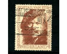 1956 - LOTTO/21291 - OLANDA - 25+8 c. BENEFICENZA REMBRANDT - USATO