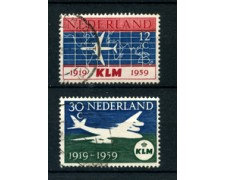 1959 - LOTTO/21296 - OLANDA - ANNIVERSARIO KLM 2v. - USATI