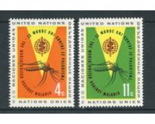 1962 - LOTTO/21347 - ONU U.S.A - LOTTA ALLA MALARIA 2v. - NUOVI