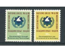 1963 - LOTTO/21352 - ONU U.S.A - SCIENZA E TECNOLOGIA   2v. - NUOVI