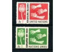 1964 - LOTTO/21361 - ONU U.S.A - CONTROLLO STUPEFACENTI  2v. - NUOVI