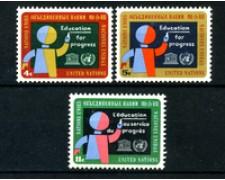 1964 - LOTTO/21362 - ONU U.S.A - EDUCAZIONE E PROGRESSO 2v. - NUOVI