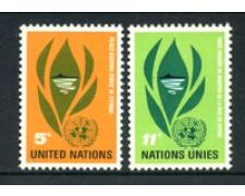 1965 - LOTTO/21364 - ONU U.S.A - PACE A CIPRO 2v. - NUOVI