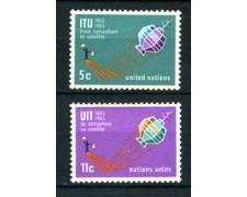 1965 - LOTTO/21365 - ONU U.S.A - CENTENARIO UIT  2v. - NUOVI
