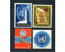 1965 - LOTTO/21368 - ONU U.S.A - POSTA ORDINARIA 4v. - NUOVI