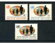 1965 - LOTTO/21369 - ONU U.S.A - SVILUPPO DEMOGRAFICO  3v. - NUOVI
