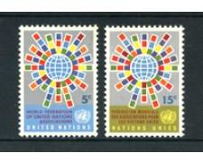 1966 - LOTTO/21370 - ONU U.S.A - FEDERAZIONE ASSOCIAZIONI 2v. - NUOVI