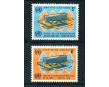 1966 - LOTTO/21372 - ONU U.S.A - NUOVA SEDE O.M.S. 2v. - NUOVI