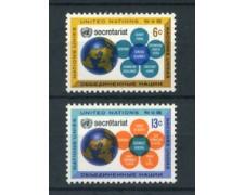 1968 - LOTTO/21382 - ONU U.S.A - SEGRETARIATO  2v. - NUOVI