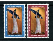 1968 - LOTTO/21383 - ONU U.S.A - ARTE STATUA L'UMANITA'  2v. - NUOVI