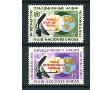 1968 - LOTTO/21385 - ONU U.S.A - OSSERVAZIONE METEREOLOGICA 2v. - NUOVI