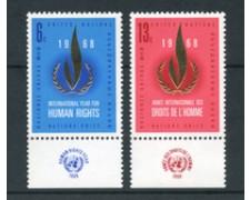 1968 - LOTTO/21386A - ONU U.S.A - DIRITTI UOMO 2v. CON APPENDICE - NUOVI