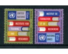 1969 - LOTTO/21387 - ONU U.S.A. - FORMAZIONE E RICERCA 2v. - NUOVI