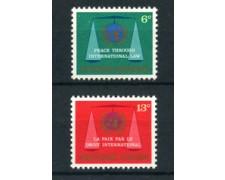 1969 - LOTTO/21389 - ONU U.S.A. - LA PACE TRAMITE DIRITTI  2v. - NUOVI
