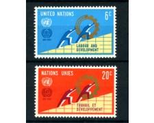 1969 - LOTTO/21390 - ONU U.S.A. - ORGANIZZAZIONE DEL LAVORO  2v. - NUOVI