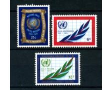 1970 - LOTTO/21395 - ONU U.S.A. - 25° ANNIVERSARIO ONU 3v. - NUOVI