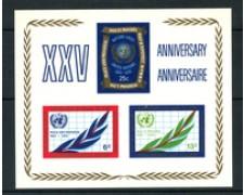 1970 - LOTTO/21396 - ONU U.S.A. - 25° ANNIVERSARIO ONU  FOGLIETTO - NUOVO