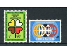 1971 - LOTTO/21401 - ONU U.S.A. - LOTTA AL RAZZISMO  2v. - NUOVI