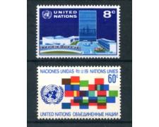 1971 - LOTTO/21402 - ONU U.S.A. - POSTA ORDINARIA 2v. - NUOVI