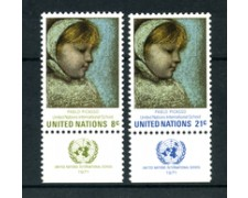 1971 - LOTTO/21403A - ONU U.S.A. - SCUOLA INTERNAZIONALE 2v. CON APP. - NUOVI