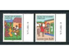 1987 - LOTTO/21439 - ONU SVIZZERA - VACCINAZIONI BAMBINI 2v. - NUOVI
