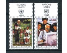 1993 - LOTTO/21446A - ONU SVIZZERA - DIVENIRE ANZIANI 2v. - NUOVI CON APP.
