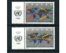1994 - LOTTO/21451A - ONU SVIZZERA - COMMERCIO E SVILUPPO 2v. - NUOVI CON APP.