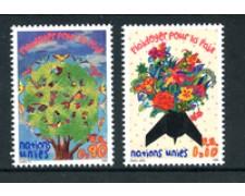 1996 - LOTTO/21454 - ONU SVIZZERA - ESORTAZIONE ALLA PACE 2v. - NUOVI
