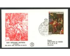 1973 - LOTTO/21485 - SMOM - S.GIOVANNI BATTISTA  BUSTA FDC