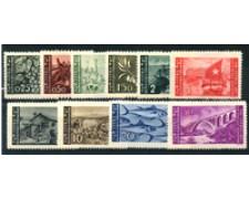 1946 - LOTTO/21507 - ISTRIA LITORALE SLOVENO - TIRATURA ZAGABRIA 10v. LING.