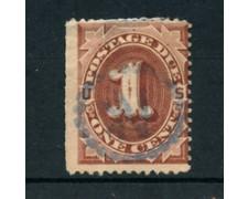 1887/89 - LOTTO/21519 - STATI UNITI - SEGNATASSE 1 cent. BRUNO ROSSO - USATO