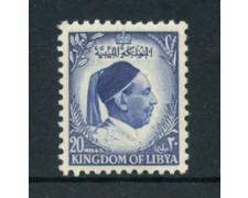 1952 - LOTTO/21525 - LIBIA - 20m. BLU RE IDRISS - NUOVO