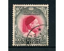 1952 - LOTTO/21527U - LIBIA - 100m. NERO CARMINIO RE IDRISS - USATO