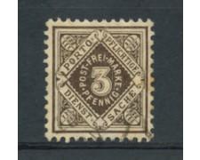 WURTTEMBERG - 1875 - LOTTO/21840  - 3p. BRUNO SERVIZIO USATO