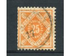 WURTTEMBERG - 1875 - LOTTO/21843 - 25p. ARANCIO  SERVIZIO USATO