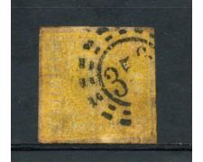 BAVIERA - 1861 - LOTTO/21851 - 1 K. GIALLO ARANCIO - USATO