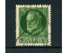 BAVIERA - 1914 - LOTTO/21863 - 5p. VERDE  USATO
