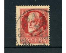 BAVIERA - 1914 - LOTTO/21864 - 10p. ROSSO USATO