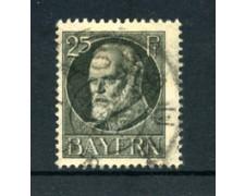 BAVIERA - 1914 - LOTTO/21866 - 25p. GRIGIO USATO