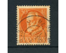 BAVIERA - 1914 - LOTTO/21867 - 30p. ARANCIO  USATO