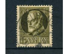 BAVIERA - 1914 - LOTTO/21868 - 40p. BRUNO USATO