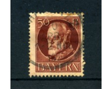 BAVIERA - 1914 - LOTTO/21869 - 50p. BRUNO  ROSSO USATO