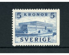 1941/53 - LOTTO/21915 - SVEZIA - 5 K. AZZURRO PALAZZO REALE - NUOVO