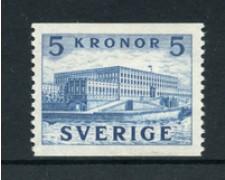 1941/53 - LOTTO/21916 - SVEZIA - 5 K. AZZURRO PALAZZO REALE - NUOVO