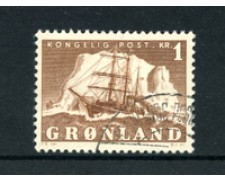 GROENLANDIA - 1950/60 - LOTTO/21960 -  1 Kr. BRUNO VELIERO - USATO